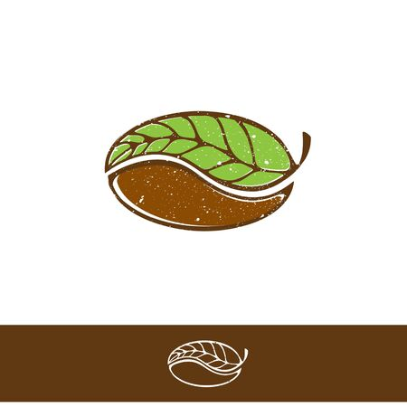 chicchi di caff?: Design verde del caffè e del tè verde Vettoriali