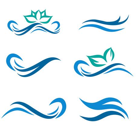 Ola de agua potable y Spa Ilustración de vector