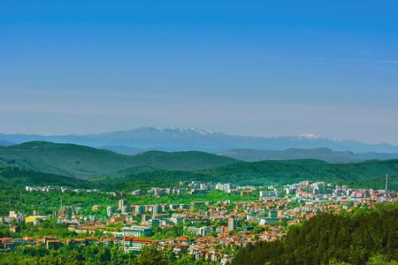 abode: View over the city of Veliko Tarnovo, Bulgaria Stock Photo