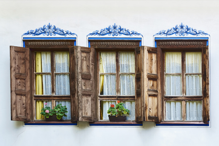 Windows of an Old House in Plovdiv, Bulgaria
