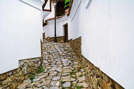 Narrow Street of an Old Plovdiv, Bulgaria