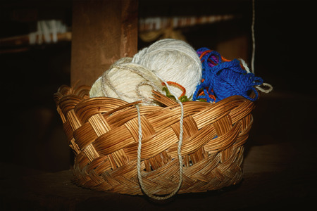 weft: Clews of Yarn in the Wattled Basket