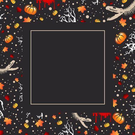 copyspace: Halloween Greeting Card With Frame and Copyspace
