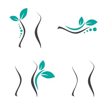 Vrouwchirurgie en Chiropractie Logo Set