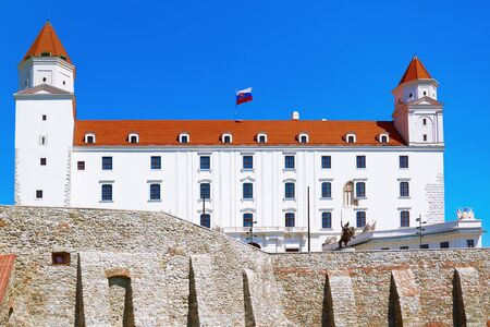 Old White Castle in the Old City of Bratislava, Slovakia Stock Photo