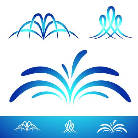 Collezione di fontane semplici per logo e altri disegni
