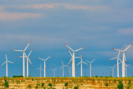 Wind Turbines at the Cape Kaliakra, Bulgaria