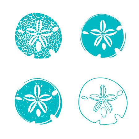 Illustration de la collection de dessins Sea Sand Dollar Vecteurs