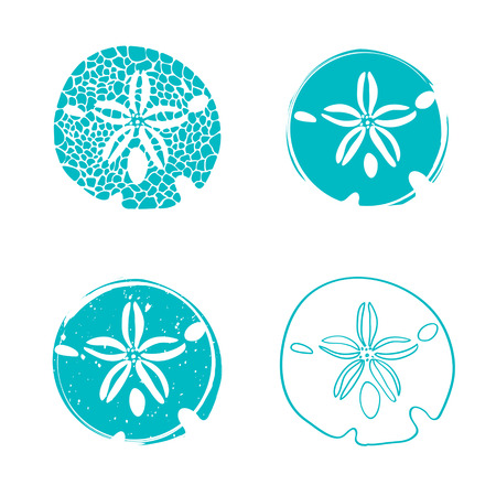 Illustration of Sea Sand Dollar Design Collection
