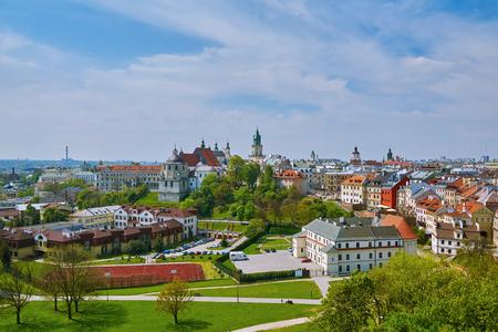 오래 된 도시 루블 린, 폴란드의보기 스톡 콘텐츠