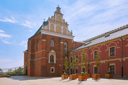 Holy Trinity Chapel in the Courtyard of Medieval Castle 版權商用圖片