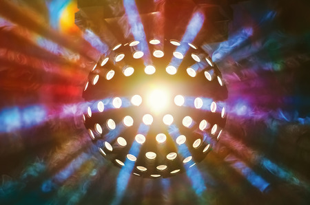 Disco Ball Light in the Nigt Club Stock Photo