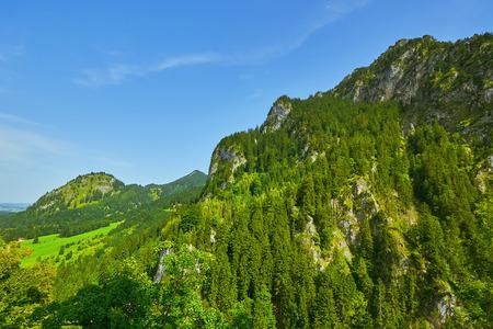 Rugged Hill in Hohenschwangau near the Neuschwanstein Castle Stock Photo
