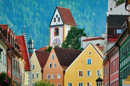 St. Mang Basilica in Fussen, Bavaria, Germany Stock Photo