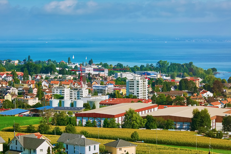 Overview of Rorschach on the South Side of Lake Constance (Bodensee) Stock Photo