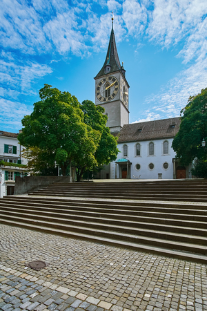 dwelling: Square Opposite the Church of St. Peter in Zurich, Switzerland