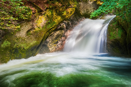 Waterfall of Eistobel, Isny im Allgau, Bavaria, Germany