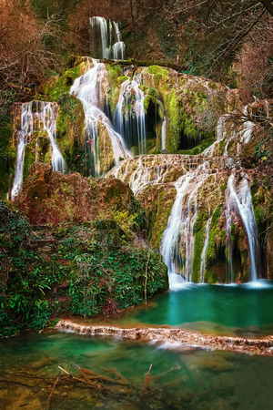 Krushuna Falls - Series of Waterfalls in Northern Bulgaria Banque d'images
