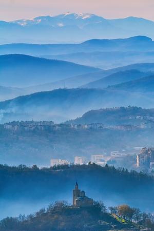 Aerial Panoramic View of Veliko Tarnovo, Bulgaria