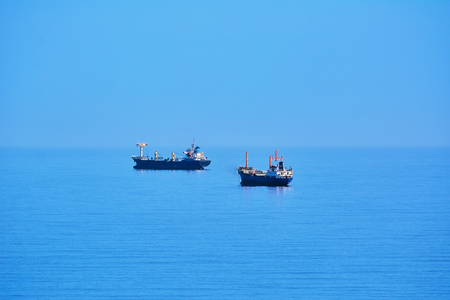 Cargo Ships at Anchorage in the Black Sea