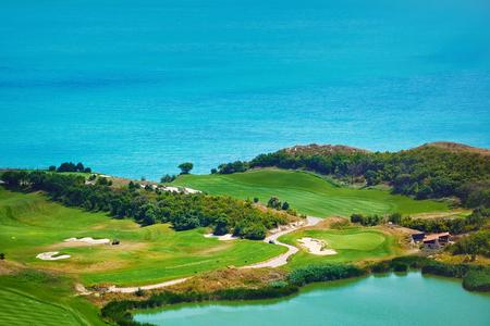 Golf Course on the Sea Shore of Black Sea