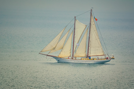 Two Masted Sailing Ship in the Black Sea