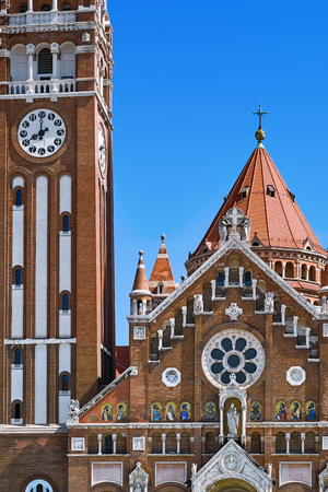 Fragment of the Church in Szeged, Hungary Stock Photo
