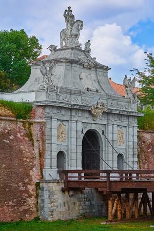 Entrance to the Fortress Alba Iulia, Romania
