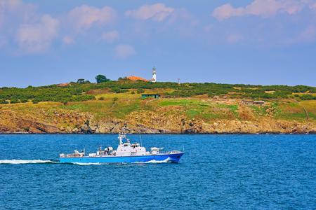 Patrol Boat in the Black Sea Фото со стока