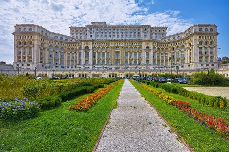 Parlamentspalast in Bukarest, Rumänien Editorial