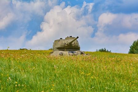 Tank of World War 2 on the Battle Field