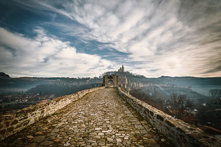 Entrance to the Fortress Tsarevets in Veliko Tarnovo, Bulgaria Banque d'images - 116187551