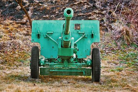 An Old Artillery Gun in the Field Reklamní fotografie
