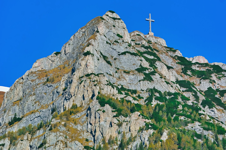 Caraiman Peak with The Heroes Cross in the Bucegi Mountain