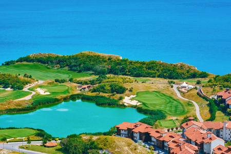 Golf Course on the Sea Shore of Black Sea