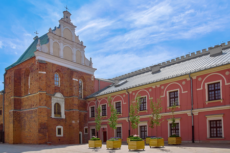 Holy Trinity Chapel in the Courtyard of Medieval Castle 新聞圖片