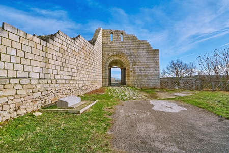 Main Entry of the Shumen Fortress, Bulgaria Banque d'images - 116187922