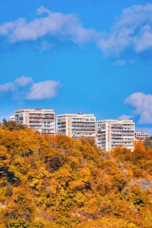 Multi-storey houses of Varna, Bulgaria Stok Fotoğraf
