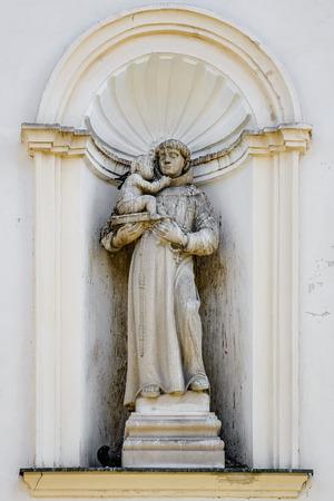 Statue in the wall niche, Presov, Slovakia