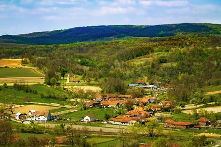 Settlement in the Carpathian mountains, Romania