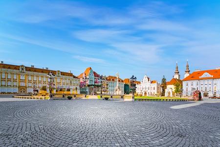 Union Square (Piata Unirii) one of the most beautiful squares of Timisoara, Romania Reklamní fotografie