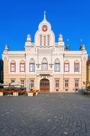 Serbian Orthodox Bishopric of Timisoara on the Union Square (Piata Unirii), Romania Reklamní fotografie
