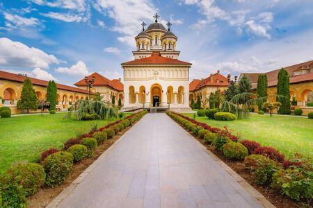 Coronation Cathedral in Alba Carolina Citadel. Alba Iulia, Romania 写真素材