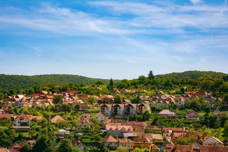 View over the City of Sighisoara, Bulgaria Stock Photo
