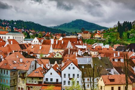 View of the Cesky Krumlov, Czech Republic 版權商用圖片