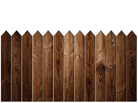 Wooden Fence over White Background Zdjęcie Seryjne