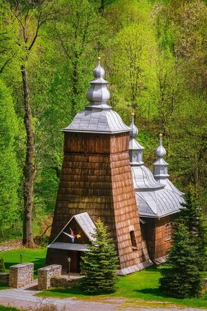 Wooden Greek Catholic church in Chyrowa, Krosno County, Poland