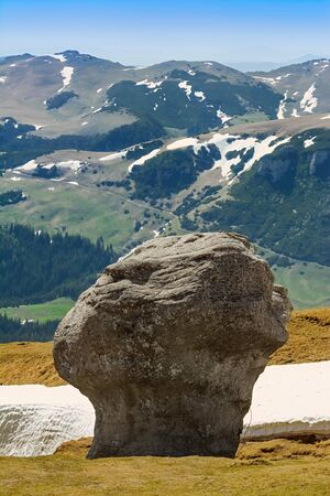 Natural Rock Formation in the area on the Bucegi Mountains plateau - Babele, Romania.