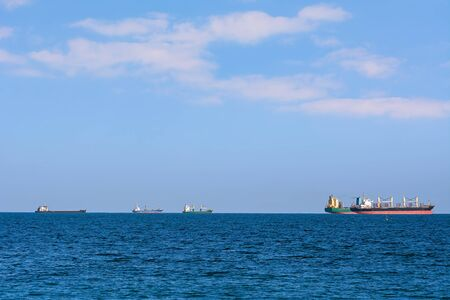 Cargo Ships in the Black Sea