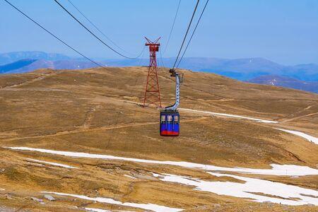 Telecabine (Cable transportation, Cable car, Gondola) in Bucegi mountains